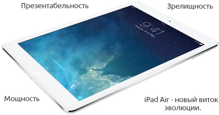 Купить iPad Air по низкой цене в Киеве.